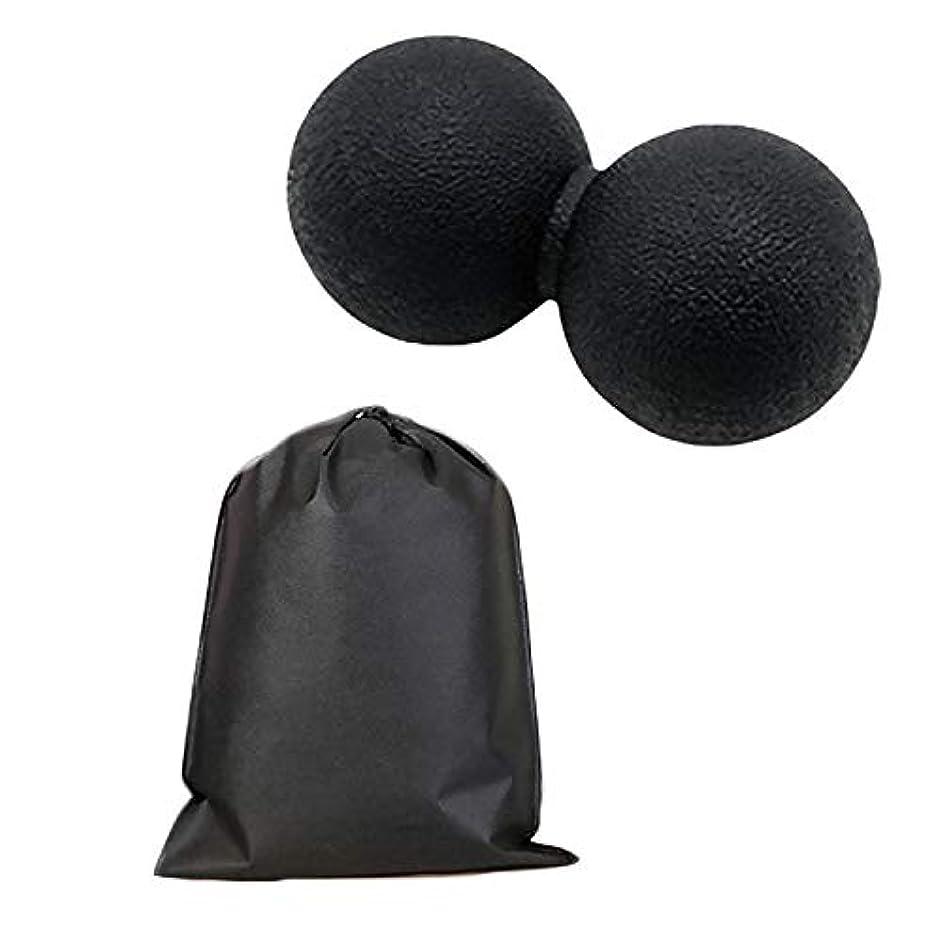 Migavan マッサージボールローラーバックマッサージボール収納袋が付いているピーナツマッサージのローラーボールのマッサージャー