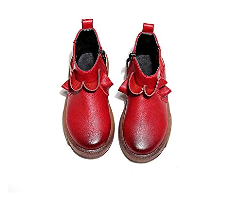 (チェリーレッド) CherryRed 子供靴 男の子 女の子 ジュニア ブーツ ショートブーツ 秋冬 防寒 耐磨 履きやすい 温かい 35