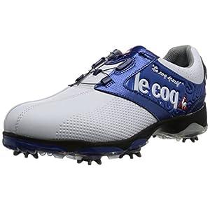 [ルコックスポルティフゴルフ] le coq sportif/GOLF COLLECTION メンズゴルフシューズ QQ0592 XN10 (ホワイト×ブルー/270)