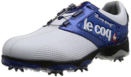 [ルコックスポルティフゴルフ] le coq sportif/GOLF COLLECTION メンズゴルフシューズ QQ0592 XN10 (ホワイト×ブルー/265)