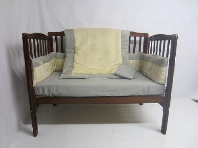Baby Doll Bedding Zuma 3 Piece Crib Bedding Set, Grey/Beige by BabyDoll Bedding