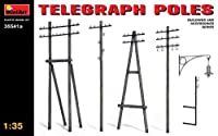 MiniArt 35541A Telegraph Poles - Updated Set, Buildings and Accessories Collection 1/35 Scale Model Kit [並行輸入品]