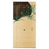 WENZHE 竹屏幕 竹スクリーン ウッドブラインド ロールシャッター 日焼け止め 印刷 ホーム エントランス 断つ からかう、 3色、 サイズ カスタマイズ可能 (Color : B, Size : 100x200cm)