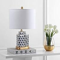 Safavieh TBL4102A ホームコレクション Alisha ブラックとホワイト テーブルランプ