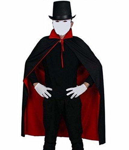 マント ハット 手袋 マジック 衣装 セット コスプレ コスチューム 手品 ハロウィン ドラキュラ 吸血鬼 (3点セット)