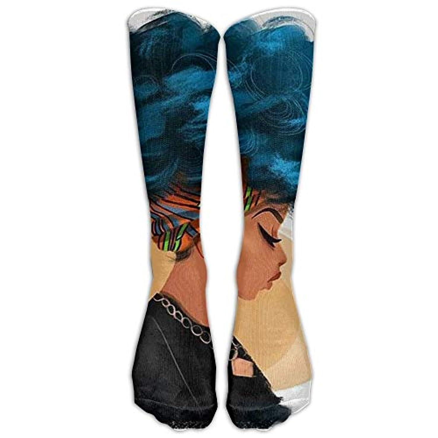 津波想像力豊かな遷移Perfect Gifts - African American Black Women Painting Print Stockings Breathable Hiking Socks Classics Socks For...
