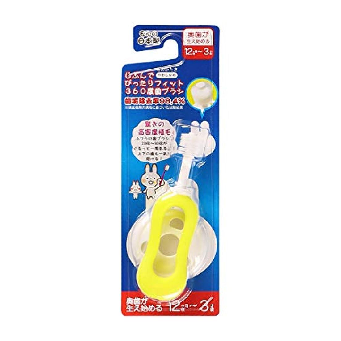 足冒険すき西松屋 じぶんでぴったりフィット360度歯ブラシ(奥歯が生え始める12ヶ月頃-3才頃)