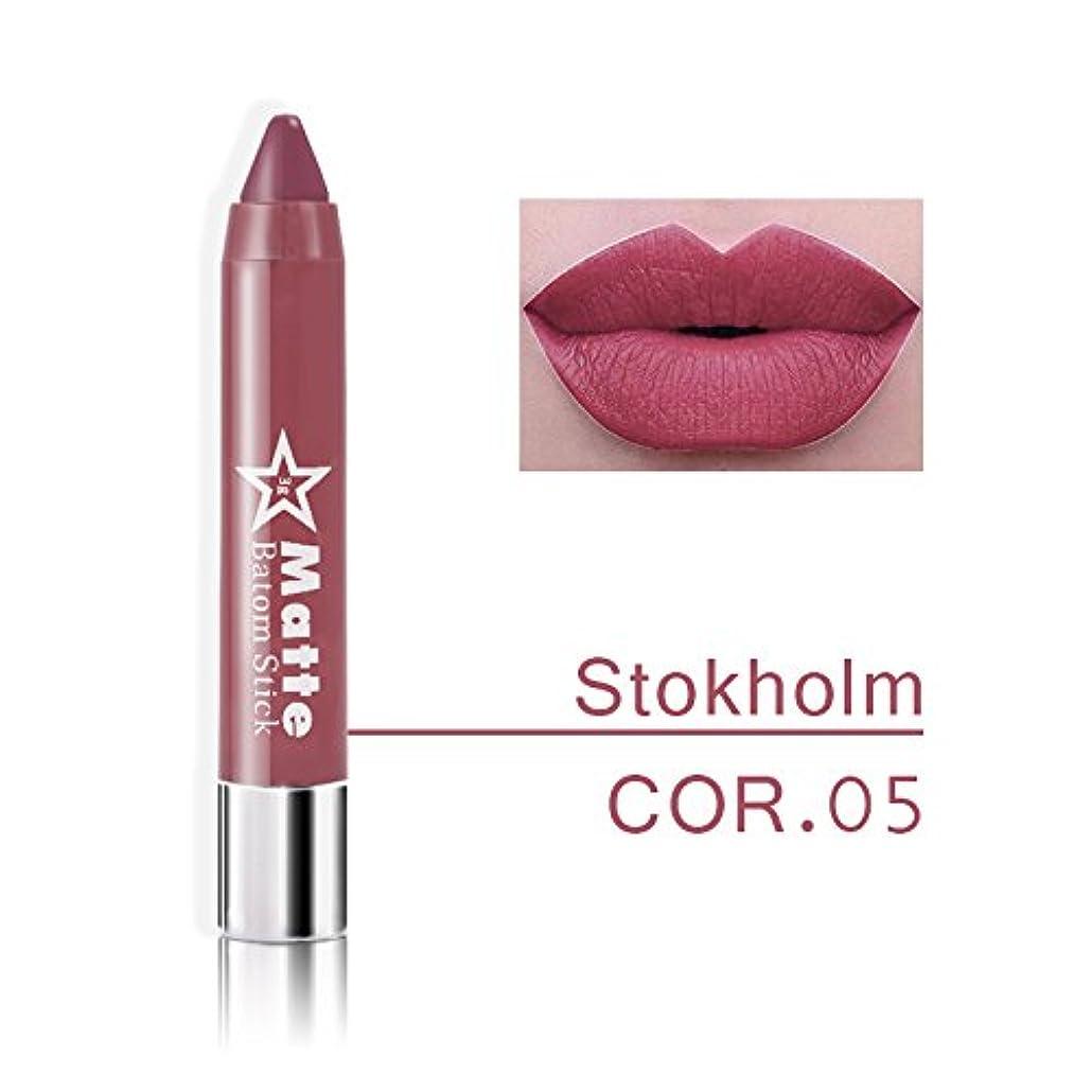 毛布再びキャメルMiss Rose Brand lips Matte Moisturizing Lipstick Makeup Lipsticks Waterproof matte Lip gloss Mate Lipsticks Make up