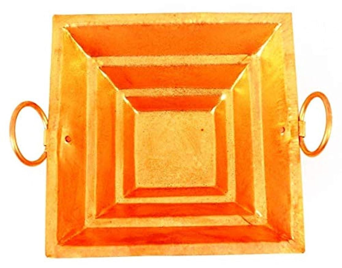Vrindavan Bazaar 銅 Yagya Hawan Kund プージャン 目的 インド文化 宗教的アイテム 16インチ