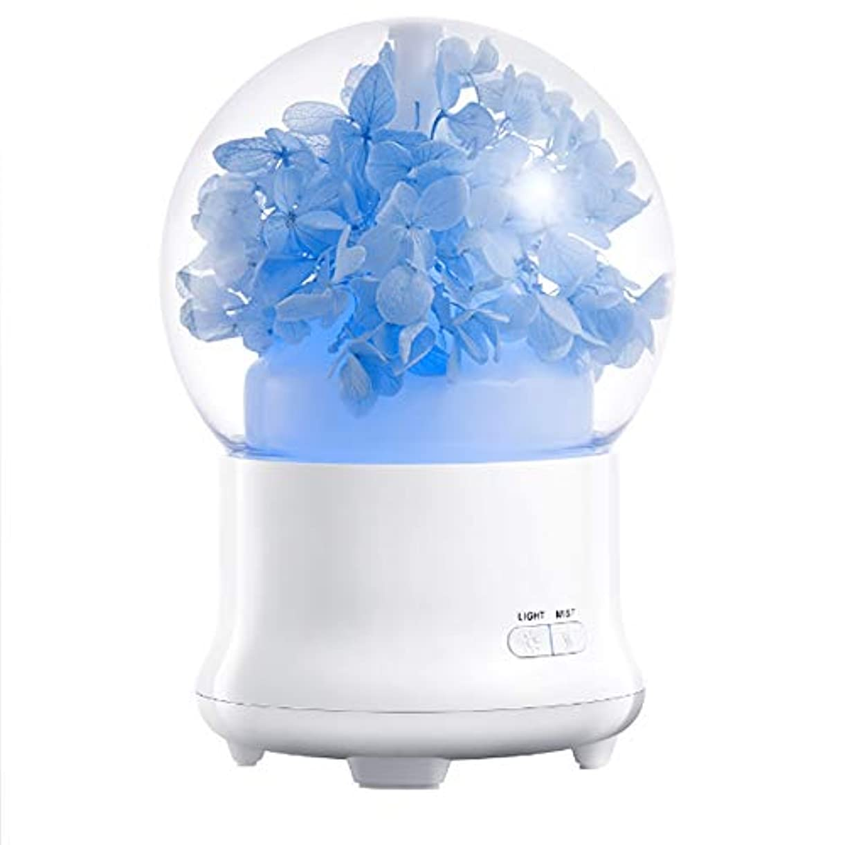 バレエ淡い凍結100ml 加湿器アロマセラピーマシン永遠の花クリーンエアタイマーと自動オフ安全スイッチオフィスホームベッドルームリビングルームスタディヨガスパ USB 充電,1