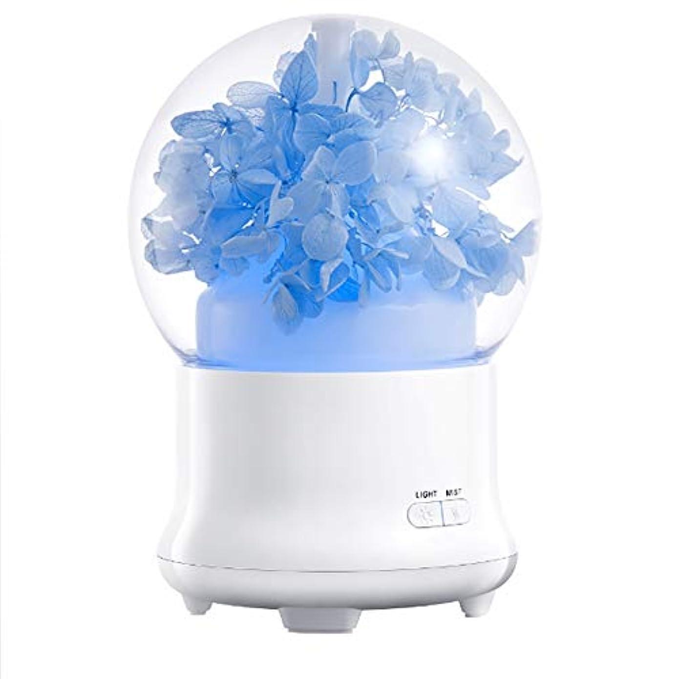 マイク抗議補足100ml 加湿器アロマセラピーマシン永遠の花クリーンエアタイマーと自動オフ安全スイッチオフィスホームベッドルームリビングルームスタディヨガスパ USB 充電,1