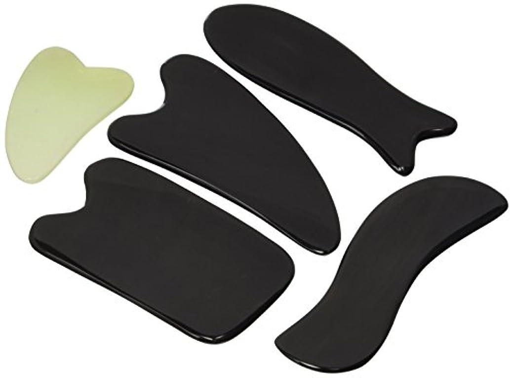 乱暴な一裂け目Gua Sha Massage Tools By One Planet With Small Massage Gift - Ultra Smooth Edge for Scraping, 100% Handmade, Hand...