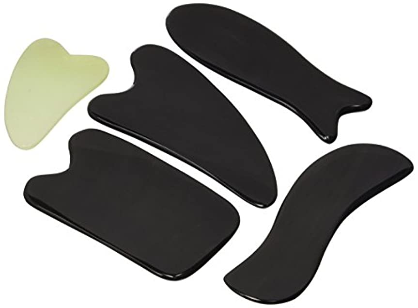 Gua Sha Massage Tools By One Planet With Small Massage Gift - Ultra Smooth Edge for Scraping, 100% Handmade, Hand...