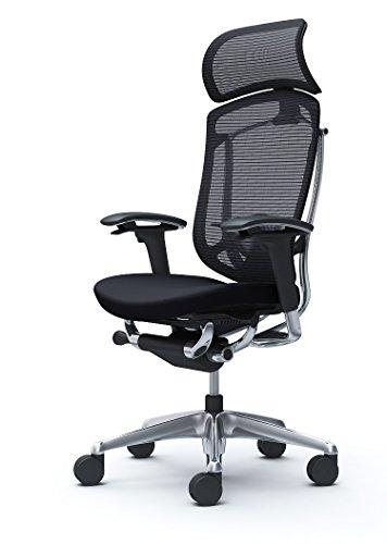 オカムラ オフィスチェア コンテッサ セコンダ 可動肘 エクストラハイバック 座:クッション ブラック CC87BS-FPC1