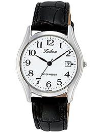 [シチズン キューアンドキュー]CITIZEN Q&Q 腕時計 Falcon ファルコン アナログ 革ベルト 日付 表示 ホワイト D016-304 メンズ
