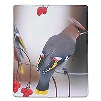 パソコンデスクパッド マウスパッド 多機能 防水性 耐油性 長寿命 携帯便利 鳥ワックスウィング素敵なカリーナの枝