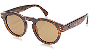 Local Supply Men's FREEWAY Polarized Sunglasses - Dark Brown Tint Lens, Polished Tortoiseshell Frames