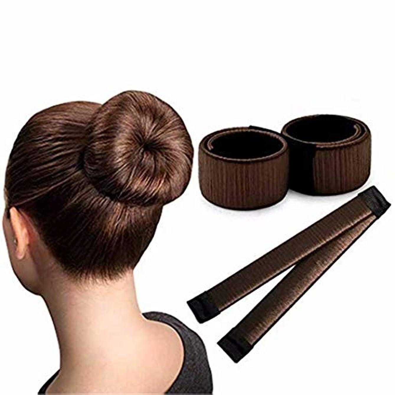 うがい曖昧な顔料七里の香 ボールヘッド ドーナツヘアメーカー ローラーヘアスタイルツール