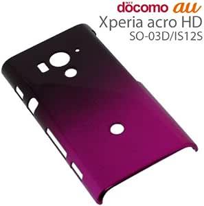 ラスタバナナ Xperia acro HD(SO-03D/IS12S)用 ハードケース グラデ ブラック C836ACROHD