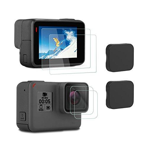 アイトランク iTrunk スクリーンフィルム レンズフィルム レンズカバーセット 強化ガラス 超薄 硬度9H 気泡防止 高感度タッチ 全面保護 GoPro Hero 6 Hero 5対応アクセサリー