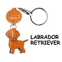 本革製 犬キーホルダー ラブラドールレトリーバー VANCA CRAFT (日本製 職人の手作り)