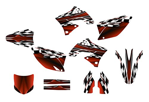 カワサキkx450FグラフィックスデカールキットFits 2009–2011by Allmotorgraphics no2500レッド