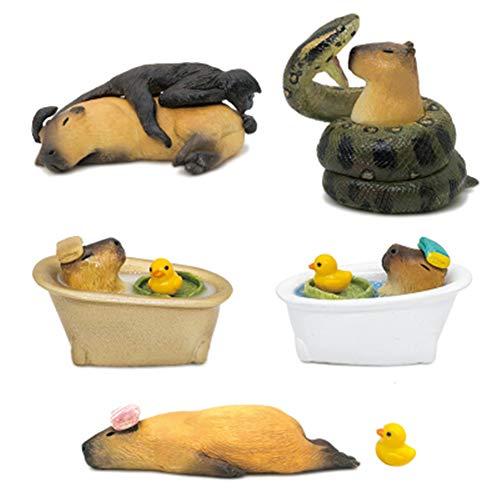 カピバラ 置物 フィギュア 萌え 動じないカピバラ Capybara figure お風呂カピバラ アヒル