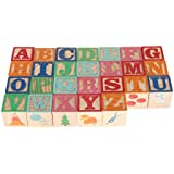 Alphabet Blocks Learning Puzzle | Wooden ABC Letters Colorful Educational Puzzle Toy Board for Toddlers and Kids