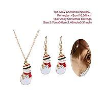 2020新年あけましておめでとうございますギフトサンタクロースネックレスイヤリングクリスマスの飾りクリスマスの装飾クリスマスギフトクリスマス2019ナビダッド-Colorful Snowman-