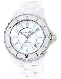 68100af75160 シャネル CHANEL J12 ホワイトセラミック ブルーライト 38mm H3827 世界限定2000本 メンズ 腕時計 オートマ