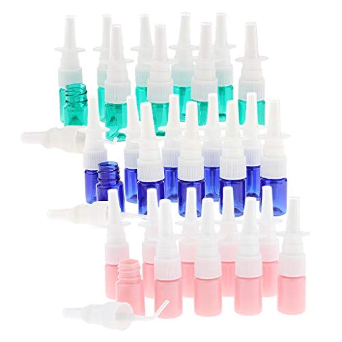 生きる展示会ロイヤリティ5ml 点鼻スプレーボトル 空容器 プラスチック製 液体 化粧水 詰め替え 約30個入