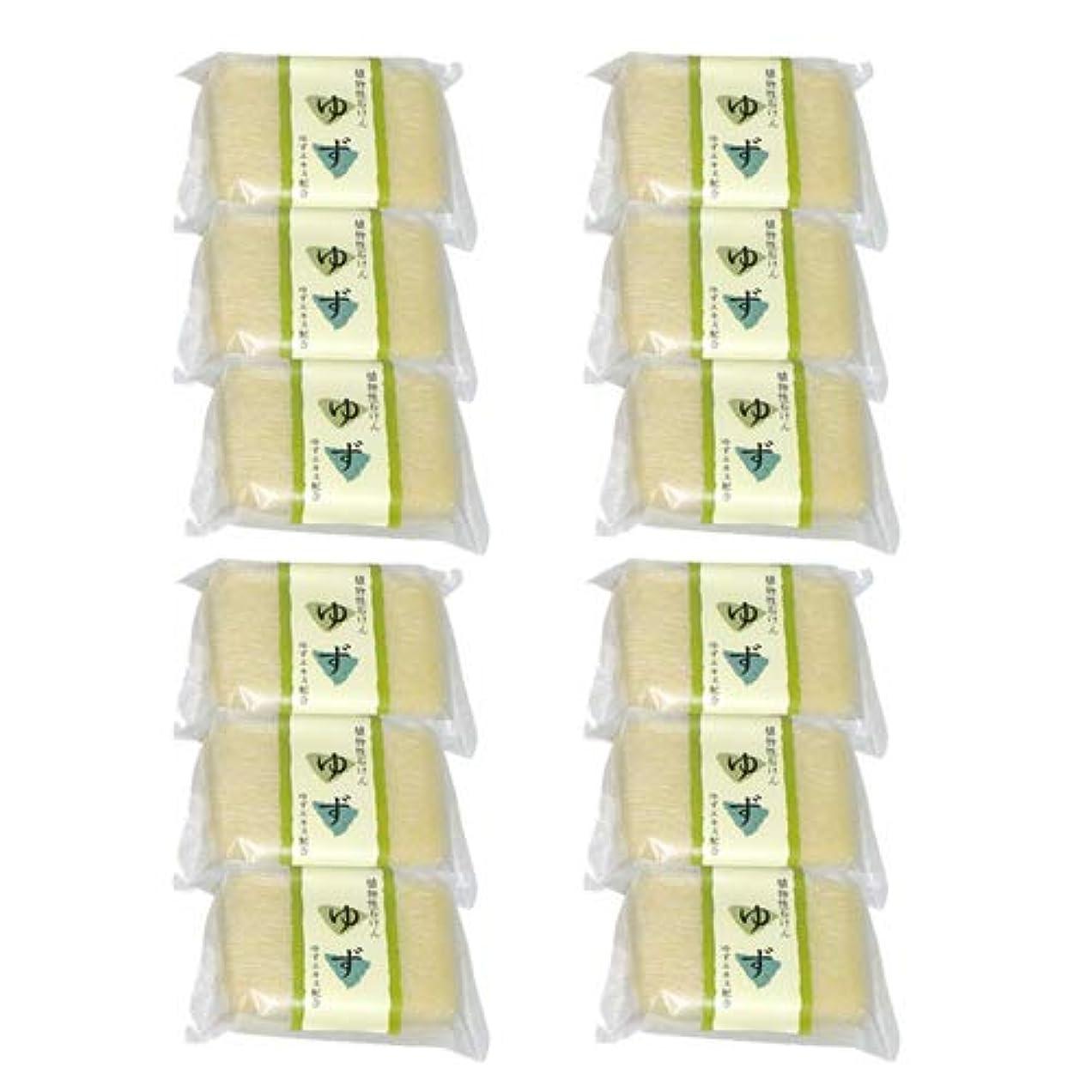 乳剤転送バーベキュー植物性ソープ 自然石けん ゆず 80g×12個セット