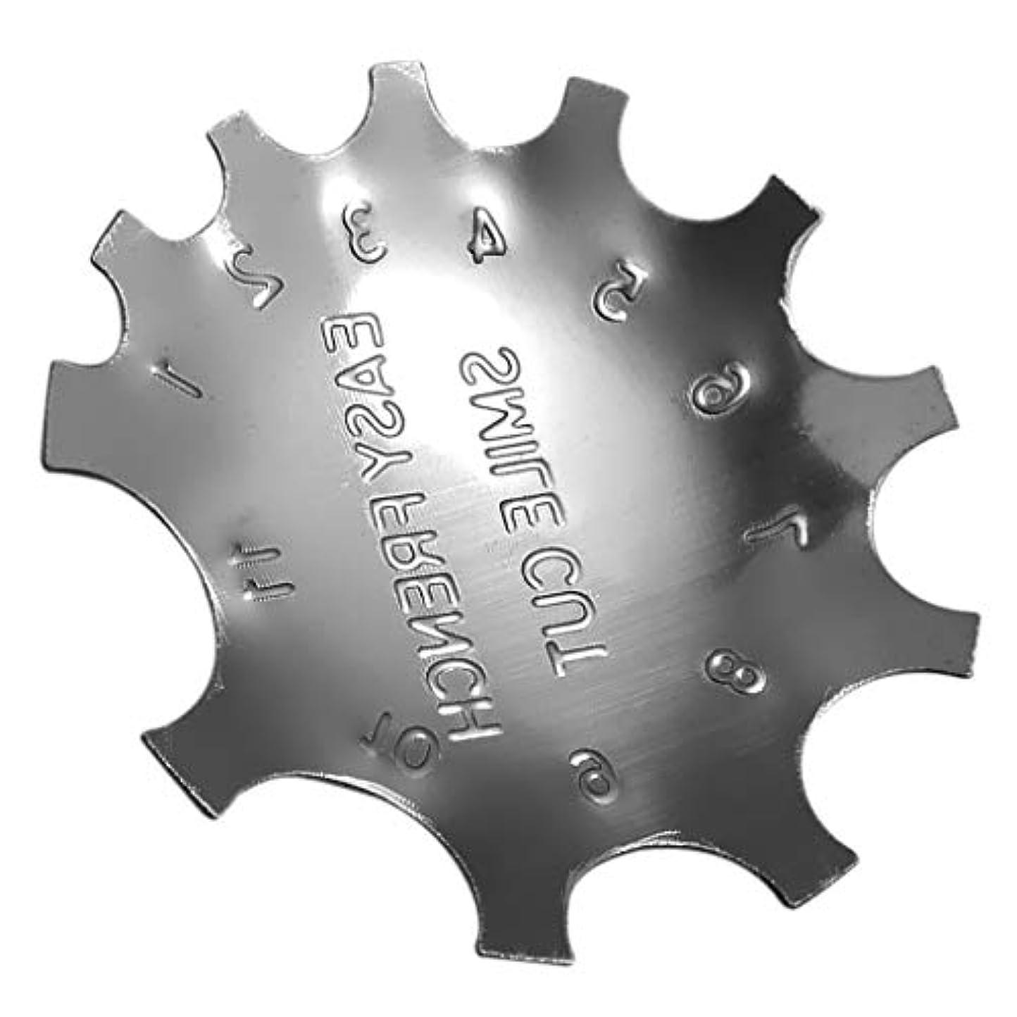 事実上スカリー弱まるCUTICATE ステンレス フレンチネイル スマイルラインカッター ネイルプレート マニキュアツール 全4サイズ - 02