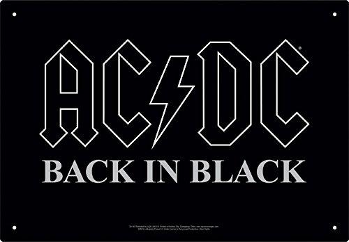 AC/DC BACK IN BLACK TINサイン / AC/DC Back in Black Tin Sign