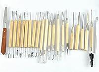 陶芸 用 道具 用具 22本 26本 セット フィギュア 模型 製作 粘土 細工 へら かきべら 趣味 工具 (C 収納ケースなし 22本セット)
