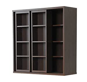 Frama Furniture(フラマファニチャー) 低ホルムアルデヒド ダブルスライド書棚奥深タイプ ブラウン KSS-0008EBR
