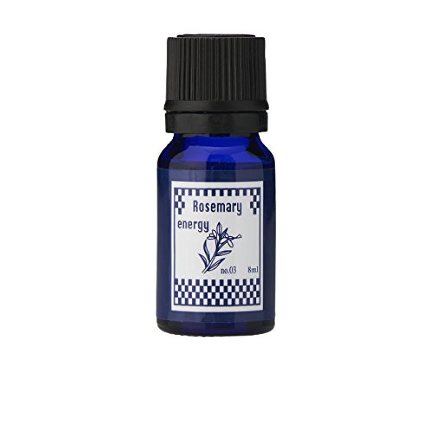 火炎和印象的なブルーラベル アロマエッセンス8ml ローズマリー(アロマオイル 調合香料 芳香用)