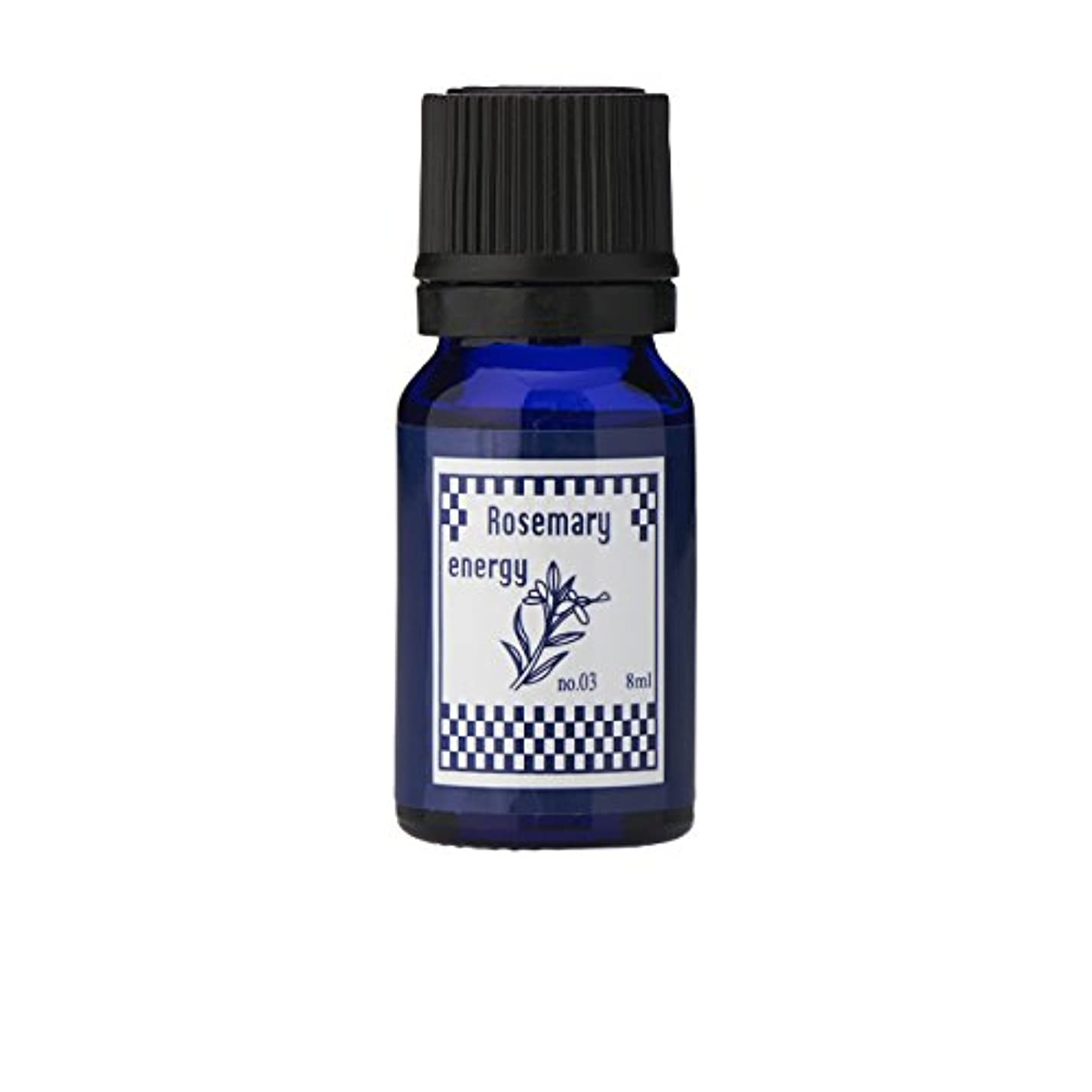クラスあごひげ軽減するブルーラベル アロマエッセンス8ml ローズマリー(アロマオイル 調合香料 芳香用)