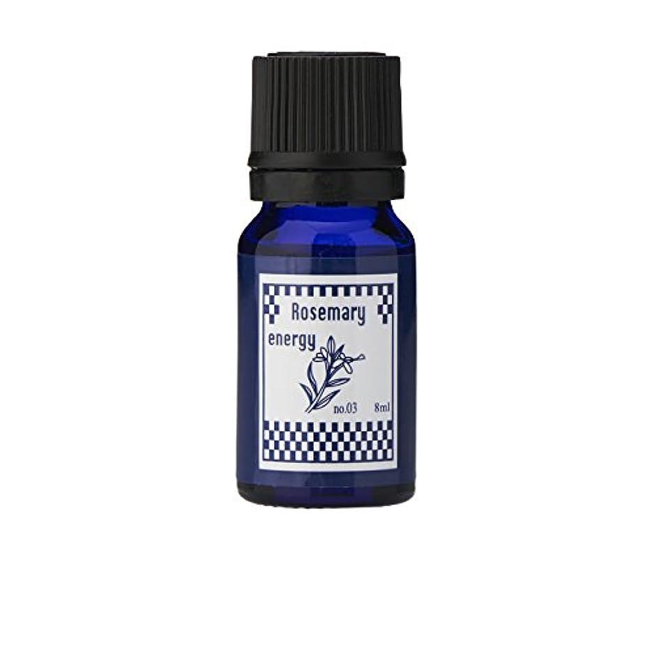 ソーセージ重要な乏しいブルーラベル アロマエッセンス8ml ローズマリー(アロマオイル 調合香料 芳香用)