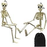Elcoho 2 Pack Halloween Skeleton Bone Model 19.7 inches for Haunted Houses Graveyard Scene Halloween Decoration