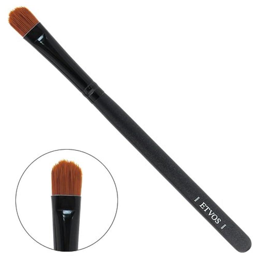ETVOS(エトヴォス) アイシャドーブラシ 平らで毛先を丸カット/アイシャドウ用化粧筆 重ね塗り対応 14cm