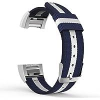 Tencloud Fitbit Charge 2高級ナイロン編み取り替えベルト Fitbit Charge 2リストバンド 交換ベルト 男女適用
