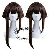 FidgetGear 御妙筋神楽釘宮理恵コスプレ3Dモバイルゲームヘアウィッグアシンメトリーヘアピース