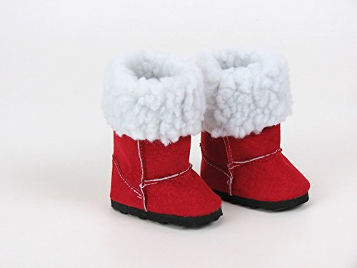 Red Fur Boots for Dolls, Ready...