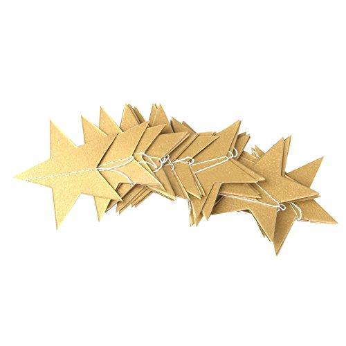 RoomClip商品情報 - サクララ(Sakulala) 星 30枚 4 メートル ガーランド DIY バースデー パーティー ウェディング 結婚式の飾り デコレーション スターの幅10cm 3色選択でき