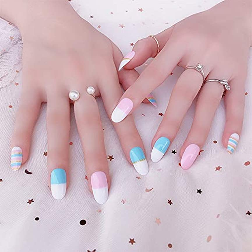 AAcreatspaceファッション花嫁偽爪光線療法偽爪かわいい偽爪ショートサイズ女性フルネイルのヒントQ12