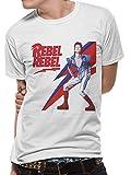 DAVID BOWIE デヴィッド・ボウイ - Rebel Rebel/Tシャツ/メンズ 【公式/オフィシャル】