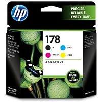 (まとめ) HP178 インクカートリッジ 4色マルチパック CR281AA 1箱(4個:各色1個) 【×3セット】 ds-1573020