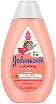 Johnson's Curl-Defining, Frizz Control, Tear-Free Kids' Shampoo with Shea Butter, Paraben-, Sulfate- &