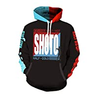 Baycon Men's Todoroki Shoto Hoodies Sweatshirt Cosplay Costume Zip-up Jacket